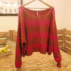 Sweaters - Free People Just My Stripe Pullover SUPER CUTE